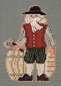 Mill Hill Bead Kit Colonial Santas - Plymouth Santa