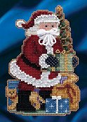 Mill Hill Bead Kit Celebration Santas - Merry Christmas Santa THUMBNAIL