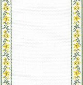 Mill Hill Stitch Band 18ct Petite Fleur Antique White, Green & Yellow