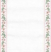 Mill Hill Stitch Band 18ct Petite Fleur Antique White, Pink & Green