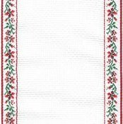 Mill Hill Stitch Band 18ct Petite Fleur Antique White, Dark Red & Green