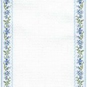 Mill Hill Stitch Band 18ct Petite Fleur Antique White, Light Blue & Green