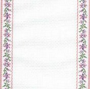 Mill Hill Stitch Band 18ct Petite Fleur Antique White, Medium Pink & Green