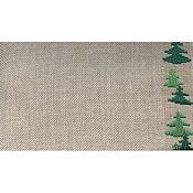 "Mill Hill Stitch Band - Woodland Trees 27ct. Natural/Green 6.2"" wide THUMBNAIL"
