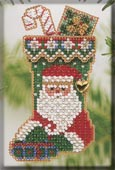 Mill Hill Bead Kit Holiday Stocking Ornaments - St. Nick Stocking THUMBNAIL