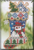 Mill Hill Bead Kit Holiday Stocking Ornaments - Mr. Snowflake