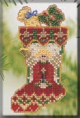 Mill Hill Bead Kit Holiday Stocking Ornaments - Angelic Stocking