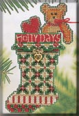Mill Hill Bead Kit Holiday Stocking Ornaments - Holly Days Stocking THUMBNAIL