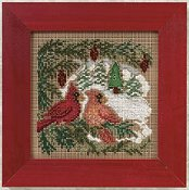 Buttons & Beads 2010 Winter Series - Cardinal Forest THUMBNAIL