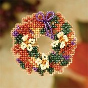 Mill Hill Autumn Harvest 2007 Series - Fall Wreath THUMBNAIL