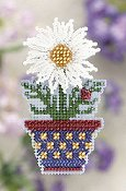 Ornament Series 2011 Spring Bouquet - White Daisy
