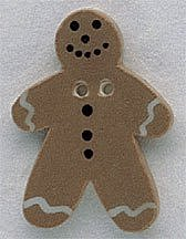 Mill Hill Button - 86002 Gingerbread Man MAIN