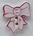 Mill Hill Button - 86064 Pink Bow THUMBNAIL
