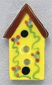 Mill Hill Button - 86173 Yellow Birdhouse THUMBNAIL