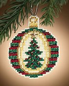 Mill Hill Christmas Jewels Charmed Ornaments - Golden Tannenbaum