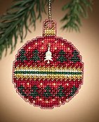 Mill Hill Christmas Jewels Charmed Ornaments - Ruby Forest THUMBNAIL