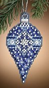 Mill Hill Christmas Jewels Charmed Ornaments - Sapphire Snow