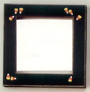Mill Hill Wood Frame - Handpainted Candy Corn