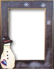 Mill Hill Wood Frame - Handpainted Snowman