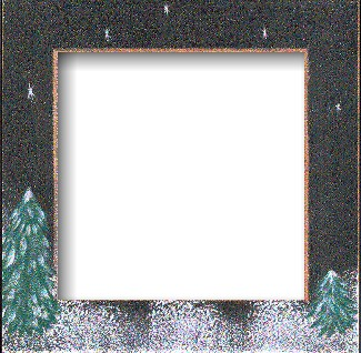 Mill Hill Wood Frame - Handpainted Winter Night MAIN