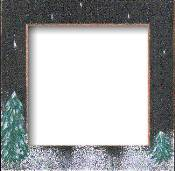 Mill Hill Wood Frame - Handpainted Winter Night