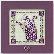 Jim Shore Quilted Cats - Petunia THUMBNAIL