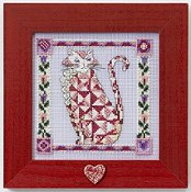 Jim Shore Quilted Cats - Scarlet THUMBNAIL