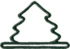 Mill Hill Metal Bell Pull - Green Mini Tree MAIN