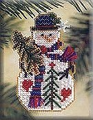Mill Hill Snow Charmer Kit - Pine Tree THUMBNAIL
