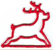 Mill Hill Metal Bell Pull - Red Reindeer