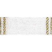 "Mill Hill Stitch Band - Bethany 27ct. Antique White/Gold 2.7"" wide THUMBNAIL"