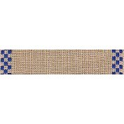 "Mill Hill Stitch Band - Checkers 27ct Natural/Royal Blue 4.7"" wide THUMBNAIL"