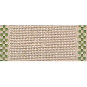 "Mill Hill Stitch Band - Checkers 18ct. Natural/Green 3.3"" THUMBNAIL"