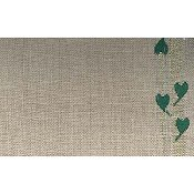 "Mill Hill Stitch Band - Folk Hearts 27ct.  Natural/Green & Gold 5.5"" THUMBNAIL"