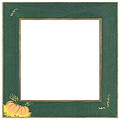 Mill Hill Wood Frame - Handpainted Pumpkin Patch