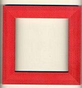 Mill Hill Wood Frame - 6x6 Holiday Red