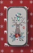 Just Nan - Needle Slide - Happy Holly Deer Mini Slide THUMBNAIL