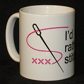 I'd Rather Be Stitching! Mug THUMBNAIL