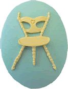 Kelmscott Designs Needle Minder - Three Legged Chair_THUMBNAIL