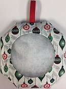 Octagonal Prefinished Christmas Ornament - Ornament Print Fabric