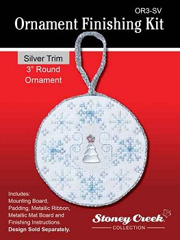 "Ornament Finishing Kit - 3"" Round Silver MAIN"