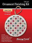 "Ornament Finishing Kit - 3"" Round Gold"