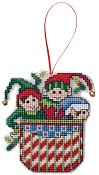 Ornament Chart - Elves In A Pocket THUMBNAIL