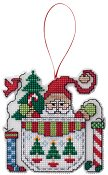 Ornament Chart - Santa In A Pocket