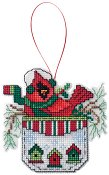 Ornament Chart - Cardinal In A Pocket
