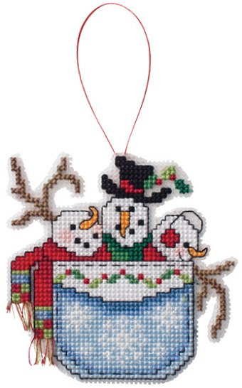 Ornament Chart - Snowmen In A Pocket MAIN