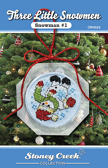 Ornament Chart - Snowman #1  (Three Little Snowmen) MAIN