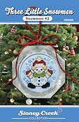 Ornament Chart - Snowman #2  (Three Little Snowmen) THUMBNAIL