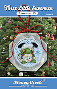 Ornament Chart - Snowman #3  (Three Little Snowmen) THUMBNAIL