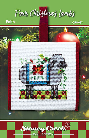 Ornament Chart - Faith (Four Christmas Lambs) MAIN